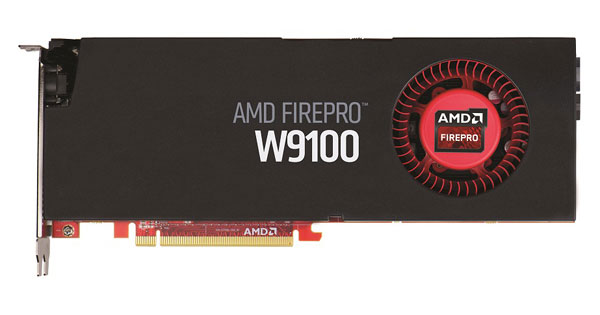 Видеокарта AMD FirePro W9100 для рабочих станций, которая первой получила 32 ГБ бортовой памяти