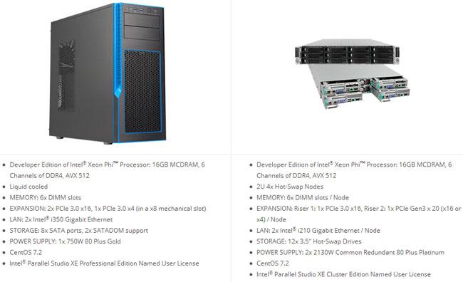 Процессоры Intel Xeon Phi доступны в системах «начального уровня»