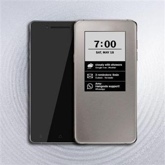 Пример использования 2,9-дюймового дисплея E Ink в качестве вспомогательного экрана в смартфоне