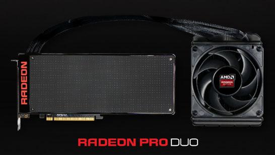 Двухпроцессорная видеокарта AMD Radeon Pro Duo
