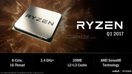 Характеристики 8-ядерной модели процессора AMD Ryzen