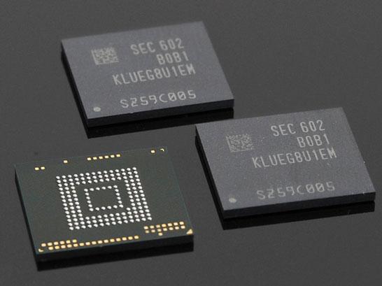 256-ГБ микросхемы флэш-памяти Samsung с интерфейсом UFS 2.0