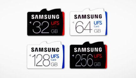 Карты памяти формфактора UFS 1.0 компании Samsung