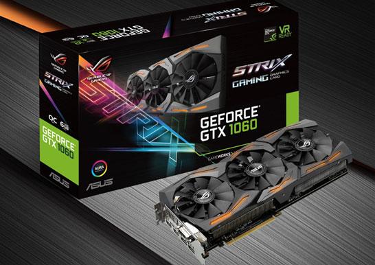 Видеокарта ASUS STRIX-GTX1060-6G-GAMING (изображение производителя)