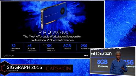 Видеокарта AMD Radeon Pro WX 7100