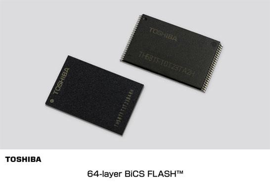 Образцы 64-слойной 256-Гбит памяти 3D NAND TLC Toshiba