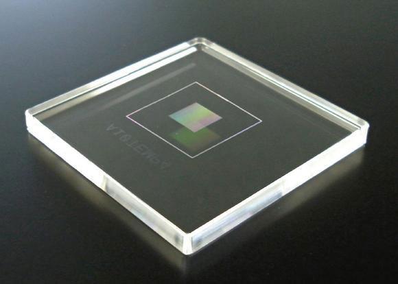 Штамп производства Dai Nippon Printing для нанопечатной литографической технологии выпуска чипов
