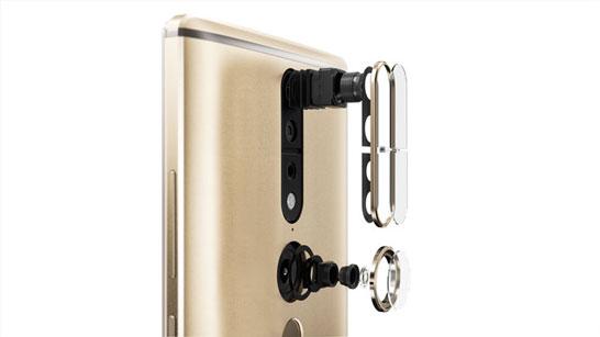 Тыловые камеры смартфона Lenovo PHAB2 Pro, включая камеру определения глубины сцены