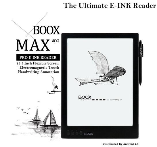 Изображение букридера Onyx Boox MAX с сайта Amazon