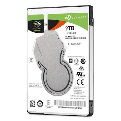 2-ТБ ноутбучный 7-мм жёсткий диск с флэш-буфером Seagate FireCuda