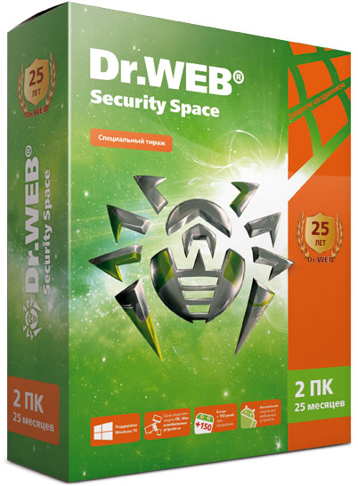 Коробка Dr.Web Security Space
