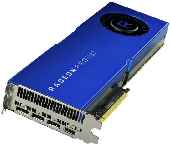Видеокарта AMD Radeon Pro Duo на двух GPU Polaris 10