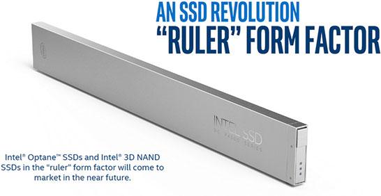 SSD Intel в новом формфакторе «линейка»