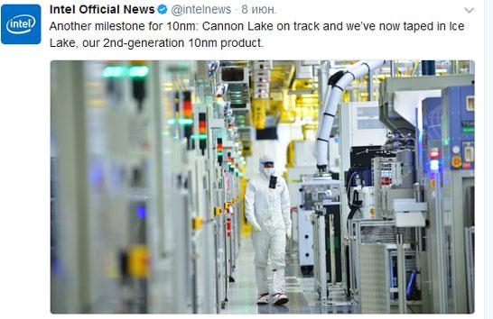 В Intel «твиттнули» об успехах