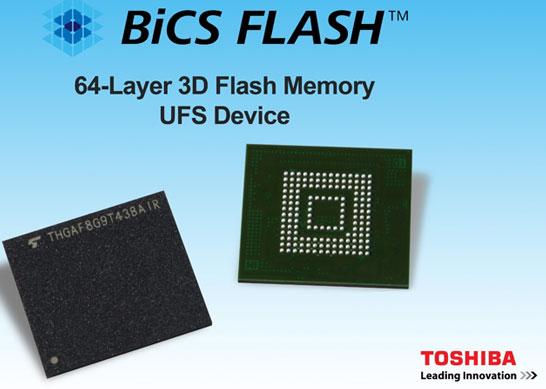 Однокорпусные SSD Toshiba с интерфейсом Universal Flash Storage (UFS)