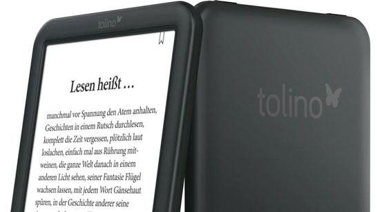 Одна из электронных книг на экране E Ink под брендом «Tolino»