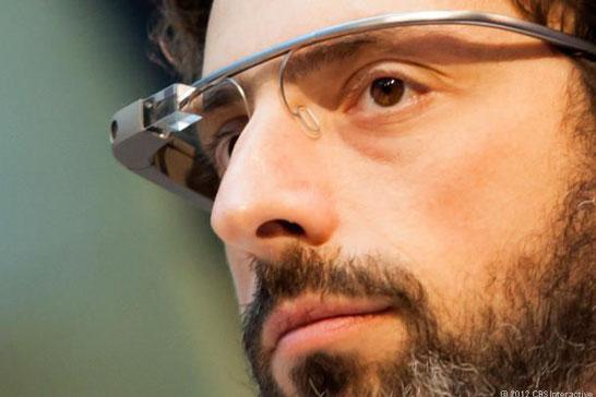 Сергей Брин в очках Google Glass