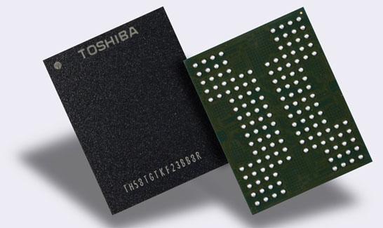 Ознакомительные образцы 64-слойных 768-Гбит 3D NAND QLC Toshiba