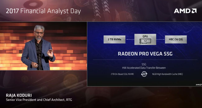 Блок-схема видеокарты AMD Radeon Pro Vega SSG