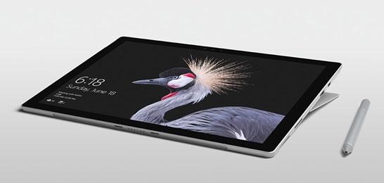 Microsoft Surface Pro в «студийном» режиме работы