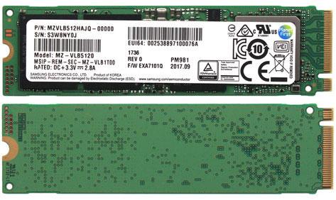 Первое явление народу SSD Samsung серии PM981