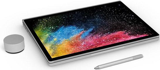 Ноутбук Microsoft Surface Book 2 в положении «планшет»