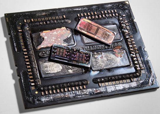 Вскрытый процессор AMD Ryzen Threadripper