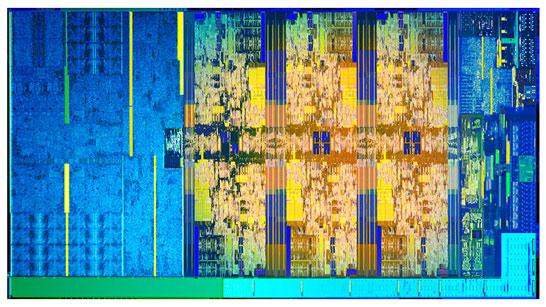Изображение кристалла 6-ядерного процессора Intel Coffee Lake-S