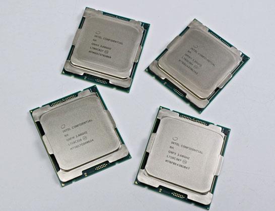 Четыре старшие модели Intel Skylake-X