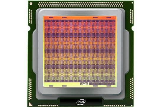 Изображение кристалла нейроморфного процессора Intel Loihi