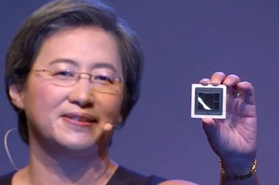 Образец 7-нм GPU AMD с 32 ГБ памяти HBM2