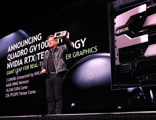 Анонс видеокарты NVIDIA Quadro GV100 для рабочих станций